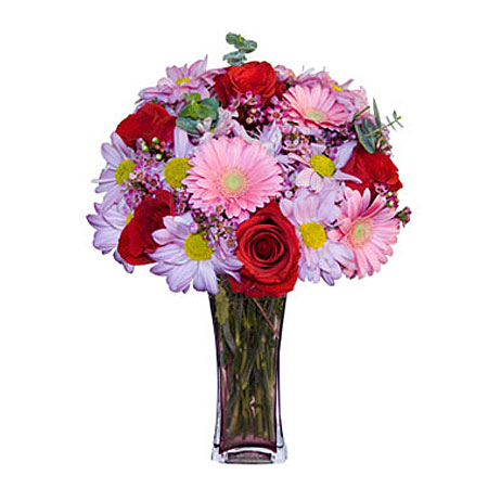 Görsel hediye karisik cam mevsim demeti  Kastamonu çiçekçi mağazası