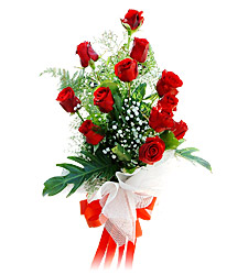 11 adet kirmizi güllerden görsel sölen buket  Kastamonu çiçek siparişi vermek