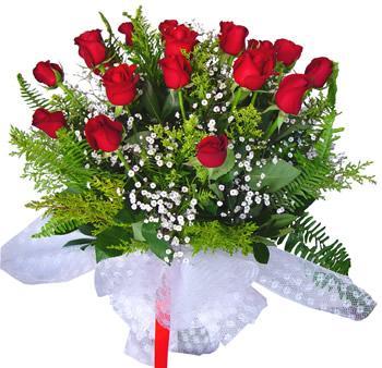 11 adet gösterisli kirmizi gül buketi  Kastamonu internetten çiçek satışı