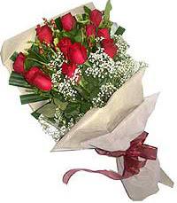 11 adet kirmizi güllerden özel buket  Kastamonu internetten çiçek siparişi
