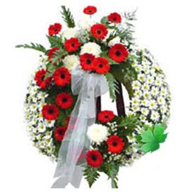 Cenaze çelengi cenaze çiçek modeli  Kastamonu uluslararası çiçek gönderme