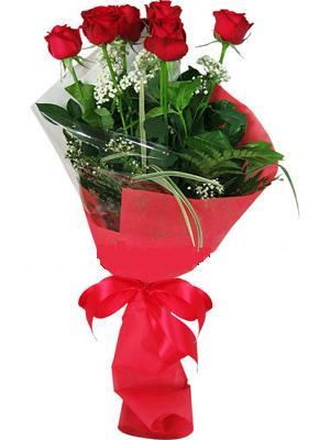 7 adet kirmizi gül buketi  Kastamonu çiçek yolla , çiçek gönder , çiçekçi