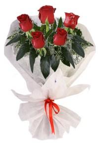 5 adet kirmizi gül buketi  Kastamonu çiçekçiler