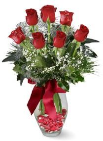 7 adet vazoda gül  Kastamonu internetten çiçek satışı  kirmizi gül
