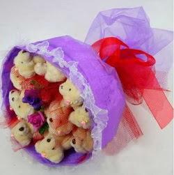11 adet ayiciktan buket  Kastamonu internetten çiçek siparişi