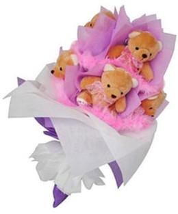 9 adet ayiciktan buket  Kastamonu hediye sevgilime hediye çiçek