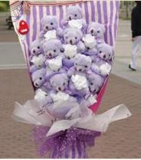 11 adet pelus ayicik buketi  Kastamonu çiçek gönderme sitemiz güvenlidir