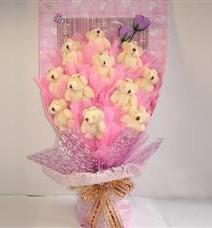 11 adet pelus ayicik buketi  Kastamonu çiçek yolla