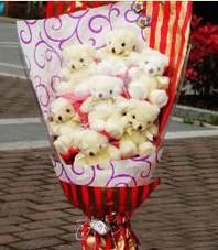 11 adet pelus ayicik buketi  Kastamonu ucuz çiçek gönder