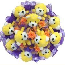 11 adet pelus ayicik buketi  Kastamonu çiçek mağazası , çiçekçi adresleri