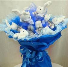 7 adet pelus ayicik buketi  Kastamonu çiçek , çiçekçi , çiçekçilik