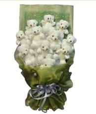 11 adet pelus ayicik buketi  Kastamonu online çiçek gönderme sipariş