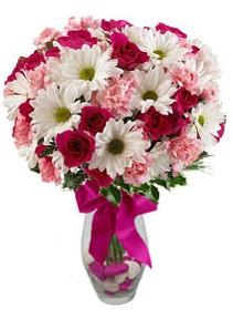 Kastamonu çiçek siparişi sitesi  Karisik mevsim kir çiçegi vazosu