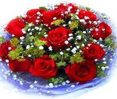 9 adet kirmizi güllerden buket  Kastamonu çiçekçi telefonları