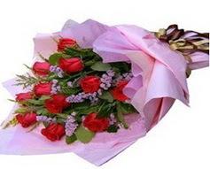 11 adet kirmizi güllerden görsel buket  Kastamonu çiçek gönderme sitemiz güvenlidir