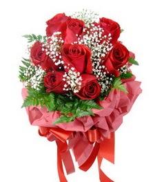 9 adet en kaliteli gülden kirmizi buket  Kastamonu çiçek servisi , çiçekçi adresleri