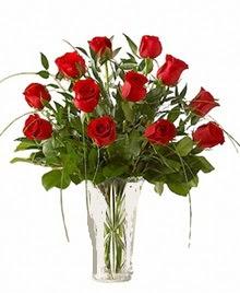 cam yada mika vazo içerisinde 9 kirmizi gül  Kastamonu çiçek siparişi sitesi