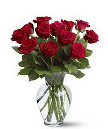 Kastamonu çiçek gönderme sitemiz güvenlidir  cam yada mika vazoda 10 kirmizi gül