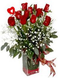 Kastamonu çiçek siparişi vermek  9 adet mika yada cam vazoda gül tanzimi kalp çubuk