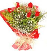 Kastamonu anneler günü çiçek yolla  5 adet kirmizi gül buketi demeti