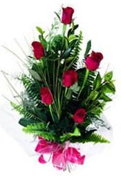 Kastamonu güvenli kaliteli hızlı çiçek  5 adet kirmizi gül buketi hediye ürünü