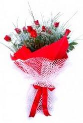 Kastamonu İnternetten çiçek siparişi  9 adet kirmizi gül buketi demeti
