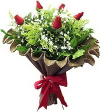 Kastamonu online çiçek gönderme sipariş  5 adet kirmizi gül buketi demeti