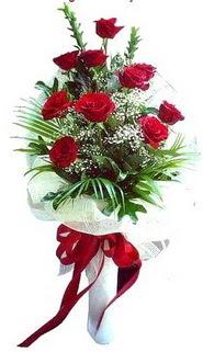 Kastamonu ucuz çiçek gönder  10 adet kirmizi gül buketi demeti
