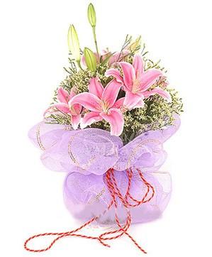 3 dal kazablanka görsel buketi  Kastamonu internetten çiçek satışı