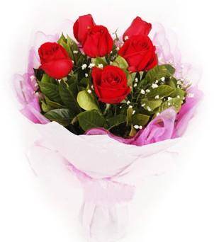 Kastamonu hediye sevgilime hediye çiçek  kırmızı 6 adet gülden buket