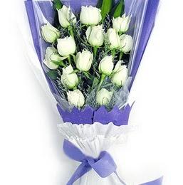 Kastamonu çiçekçi mağazası  11 adet beyaz gül buket modeli