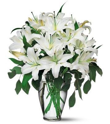 Kastamonu internetten çiçek satışı  4 dal kazablanka ile görsel vazo tanzimi