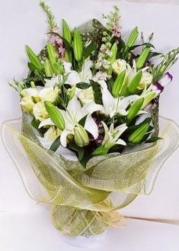 Kastamonu çiçek servisi , çiçekçi adresleri  3 adet kazablankalardan görsel buket çiçeği