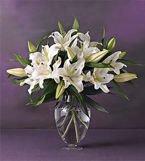 Kastamonu İnternetten çiçek siparişi  4 dal cazablanca vazo çiçeği