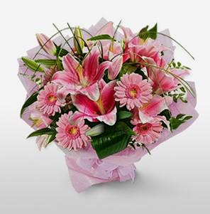 1 dal kazablanka ve kır çiçek görsel buketi  Kastamonu internetten çiçek satışı