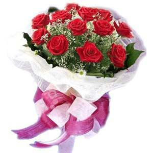 Kastamonu çiçek satışı  11 adet kırmızı güllerden buket modeli