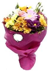 1 demet karışık görsel buket  Kastamonu anneler günü çiçek yolla