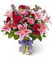 Vazo içerisinde karışık mevsim çiçeği  Kastamonu çiçek siparişi sitesi