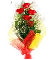5 li kırmızı gül buketi  Kastamonu internetten çiçek satışı