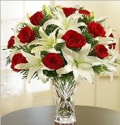 12 adet kırmızı gül 2 dal kazablanka vazosu  Kastamonu çiçek satışı
