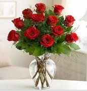 Vazo içerisinde 12 kırmızı gül  Kastamonu çiçek satışı