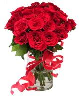 21 adet vazo içerisinde kırmızı gül  Kastamonu çiçek satışı