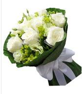 9 adet beyaz gül buketi  Kastamonu çiçek siparişi sitesi