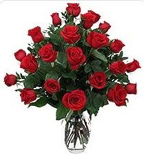 Kastamonu çiçek siparişi sitesi  24 adet kırmızı gülden vazo tanzimi
