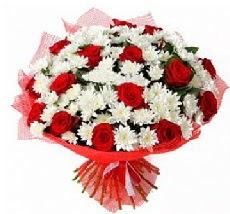 11 adet kırmızı gül ve 1 demet krizantem  Kastamonu çiçek mağazası , çiçekçi adresleri