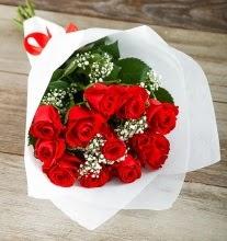 9 kırmızı gülden buket çiçeği  Kastamonu çiçek gönderme