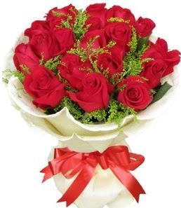 19 adet kırmızı gülden buket tanzimi  Kastamonu çiçek servisi , çiçekçi adresleri