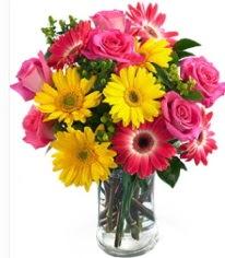 Vazoda Karışık mevsim çiçeği  Kastamonu çiçekçi mağazası