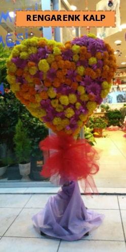 Ankara mevsim çiçeklerinden kalp perförje  Kastamonu çiçekçi telefonları