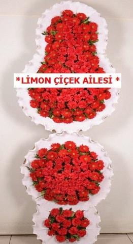 3 katlı kırmızı düğün açılış çiçeği  Kastamonu çiçek gönderme